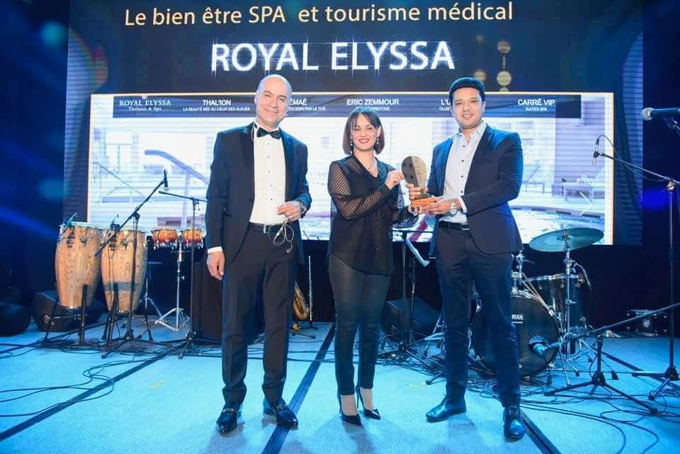 """ROYAL ELYSSA THALASSO & SPA MONASTIR TUNISIE gagnant du prix Travel D'or 2018,du """"Meilleur site d'hôtel de bien être, spa & Thalasso, tourisme médical de l'année"""", pour la seconde année consécutive."""